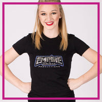 Fitted-Tshirt-EMPIRE-DANCE-PRODUCTIONS-GlitterStarz-Custom-Rhinestone-Bling-Apparel-for-Cheer-and-Dance