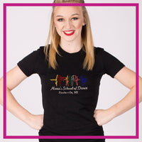 Fitted-Tshirt-marias-school-of-dance-GlitterStarz-Custom-Rhinestone-Bling-Apparel-for-Cheer-and-Dance