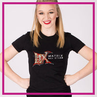 Fitted-Tshirt-matrix-allstars-GlitterStarz-Custom-Rhinestone-Bling-Apparel-for-Cheer-and-Dance