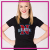 Fitted-Tshirt-northern-elite-allstars-GlitterStarz-Custom-Rhinestone-Bling-Apparel-for-Cheer-and-Dance