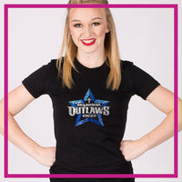 Fitted-Tshirt-oklahoma-outlaws-GlitterStarz-Custom-Rhinestone-Bling-Apparel-for-Cheer-and-Dance