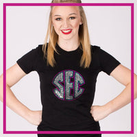 Fitted-Tshirt-south-elite-coast-GlitterStarz-Custom-Rhinestone-Bling-Apparel-for-Cheer-and-Dance