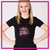 Fitted-Tshirt-sparkle-GlitterStarz-Custom-Rhinestone-Bling-Apparel-for-Cheer-and-Dance