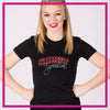 Fitted-Tshirt-spirit-explosion-script--GlitterStarz-Custom-Rhinestone-Bling-Apparel-for-Cheer-and-Dance