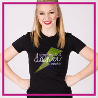 Fitted-Tshirt-steppin-out-dance-center-GlitterStarz-Custom-Rhinestone-Bling-Apparel-for-Cheer-and-Dance