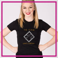 Fitted-Tshirt-the-firm-dance-company-GlitterStarz-Custom-Rhinestone-Bling-Apparel-for-Cheer-and-Dance