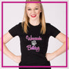 Fitted-Tshirt-wauconda-bulldogs-GlitterStarz-Custom-Rhinestone-Bling-Apparel-for-Cheer-and-Dance