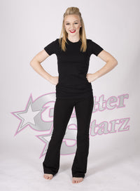 GlitterStarz Bling Basics Fitted Shirt with Custom Team Rhinestone Logo