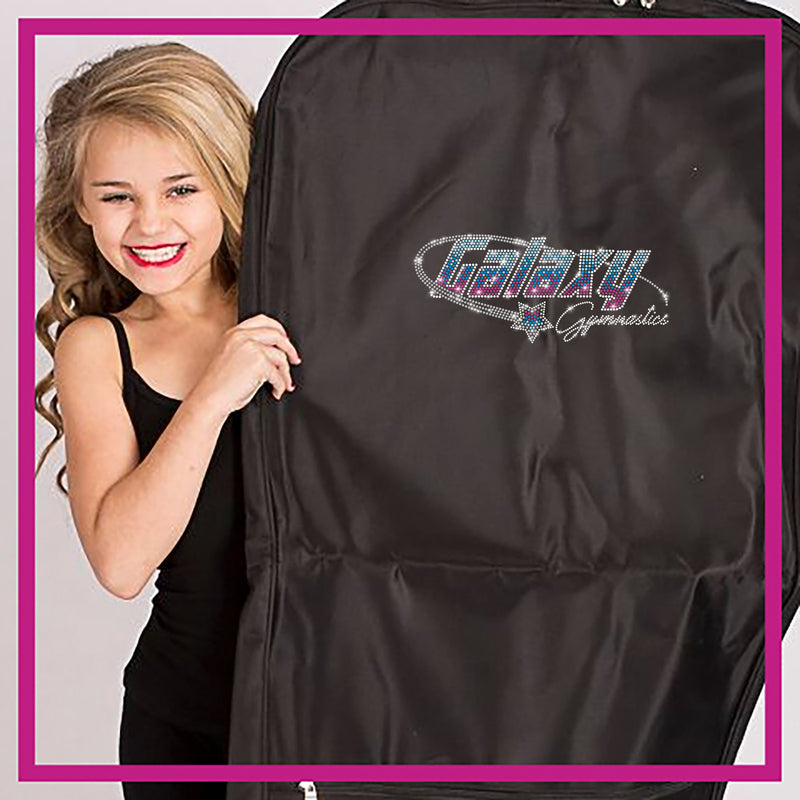 1d55ee75b328b Galaxy Gymnastics Garment Bag with Rhinestone Logo - Glitterstarz