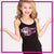 GlitterStarz GlitterGirl Fashion Bling Cami Tank Top with Rhinestone Logo