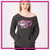 GlitterStarz GlitterGirl Fashion Bling Favorite Comfy Sweatshirt with Rhinestone Logo