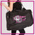 GlitterStarz GlitterGirl Fashion Bling Duffel Bag with Rhinestone Logo
