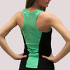 glitterstarz ashley racer back tank razor practicewear metallic green