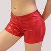 glitterstarz custom overstock red digital shorts metallic spandex practicewear