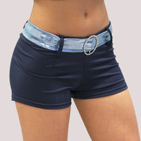 Custom OVERSTOCK- Blue Belted Shorts
