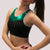 Clearance -  Empire Bra in Black Flex and Kelly Green Mystique