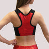 razerback racer back custom glitterstarz sports bra practicewear black red