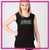 Action Athletics Bling Lace Back Tank with Rhinestone Logo