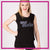 Allstar Athletics Bling Lace Tank with Rhinestone Logo
