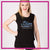 Blizz Allstar Cheerleading Bling Lace Tank with Rhinestone Logo