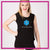 Courtney's Dance Artistry Bling Lace Tank with Rhinestone Logo