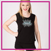 CYSC Elite Force Bling Lace Tank with Rhinestone Logo