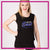 Lincoln Way East Bling Lace Tank with Rhinestone Logo