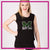 MHS Dance Team Bling Lace Tank with Rhinestone Logo