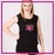 OBCDA Diamonds Cheer Bling Lace Tank with Rhinestone Logo
