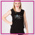 Outlaw Cheer Bling Lace Tank with Rhinestone Logo