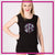 South Elite Cheer Bling Lace Tank with Rhinestone Logo