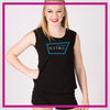 NYTBC Bling Lace Tank with Rhinestone Logo