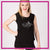The Dance Project Bling Lace Tank with Rhinestone Logo