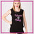 Wauconda Bulldogs Bling Lace Tank with Rhinestone Logo