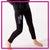 Allstar Athletics Bling Leggings with Rhinestone Logo