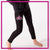 Alpha Athletics Bling Leggings with Rhinestone Logo
