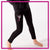 Ballet Academy of Moses Lake Bling Leggings with Rhinestone Logo
