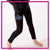 Blizz Allstar Cheerleading Bling Leggings with Rhinestone Logo