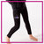 Caledonia Dance and Music Center Bling Leggings with Rhinestone Logo