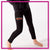 Lincoln Way West Bling Leggings with Rhinestone Logo