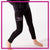 OBCDA Dance Studio Bling Leggings with Rhinestone Logo