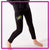 Steppin' Out Dance Center Bling Leggings with Rhinestone Logo