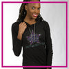 Pacific Beach High Desert Bling Lightweight Hoodie with Rhinestone Logo