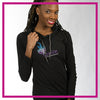 Ignite Bling Lightweight Hoodie with Rhinestone Logo