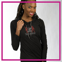 Take the Floor Dance Academy Bling Lightweight Hoodie with Rhinestone Logo