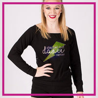 LONGSLEEVELACEFRONT-steppin-out-dance-center-GlitterStarz-Custom-bling-logo-Rhinestone-Apparel-For-Cheer-and-dance