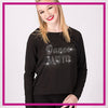 Fusion Studios DANCE MOM Moms Favorite Bling Top with Rhinestone Logo
