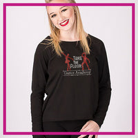Take the Floor Dance Academy Moms Favorite Bling Top with Rhinestone Logo