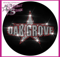 Oak Grove Youth Cheer Bling Fleece Jacket with Rhinestone Logo