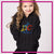 Dancing Through the Curriculum Bling Pullover Hoodie with Rhinestone Logo